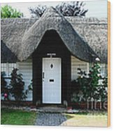 The Barn House Door Nether Wallop Wood Print