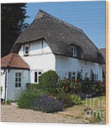 The Barn House Nether Wallop Wood Print