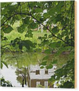 The Barn In The Water Wood Print