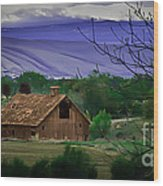 The Barn Wood Print by Robert Bales