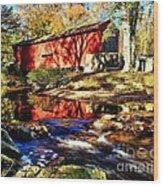 The Bartram Coverd Bridge Wood Print