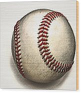 The Baseball Wood Print