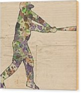 The Baseball Player Wood Print