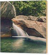 The Basin At Franconia Notch State Park Nh Wood Print