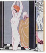 The Basin Wood Print by Georges Barbier