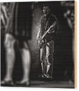 The Bassist Wood Print