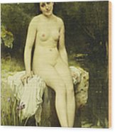 The Bather Wood Print by Leon Bazile Perrault
