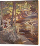The Bathing Pool Wood Print
