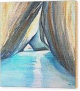 The Baths Azul Wood Print