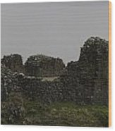 The Battered Remains Of The Urquhart Castle In Scotland Wood Print