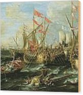The Battle Of Actium 2 September 31 Bc Wood Print