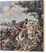 The Battle Of Bouvines, 1214 Wood Print