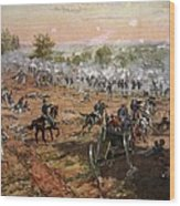 The Battle Of Gettysburg, July 1st-3rd Wood Print