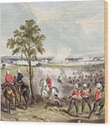 The Battle Of Goojerat On 21st February Wood Print