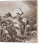 The Battle Of Hastings, Engraved Wood Print