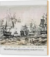 The Battle Of Lake Erie - 1878 Wood Print