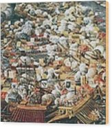 The Battle Of Lepanto, 7th October Wood Print