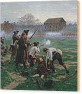 The Battle Of Lexington, 19th April 1775 Wood Print