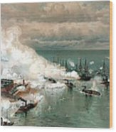 The Battle Of Mobile Bay Wood Print