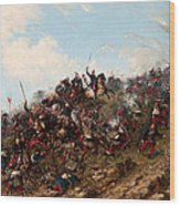 The Battle Of Trevino Wood Print
