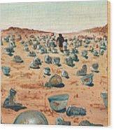 The Battlefield Wood Print by Jera Sky