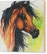 The Bay Arabian Horse 11 Wood Print