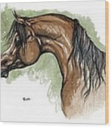 The Bay Arabian Horse 12 Wood Print