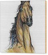 The Bay Arabian Horse 13 Wood Print