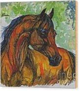 The Bay Arabian Horse 3 Wood Print
