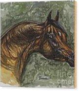 The Bay Arabian Horse Wood Print
