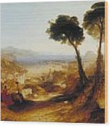The Bay Of Baiae With Apollo And The Sibyl Wood Print