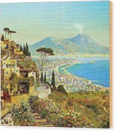 The Bay Of Naples Wood Print