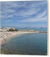 The Beach At Cap D' Antibes Wood Print