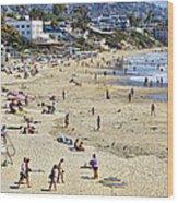The Beach At Laguna Wood Print