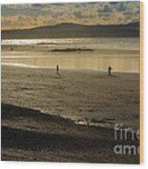The Beach At Mounts Bay Wood Print