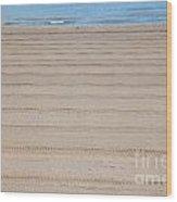 The Beach At Sutton On Sea Wood Print