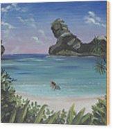 The Beach Wood Print