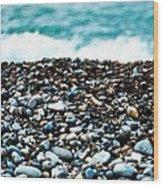 The Beach Of Rocks Wood Print