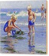 The Beach Pail Wood Print