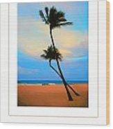 The Beach Poster Wood Print