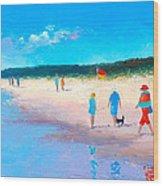 The Beach Walkers Wood Print