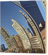 The Bean - 1 - Cloud Gate - Chicago Wood Print