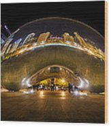 The Bean Chicago Wood Print