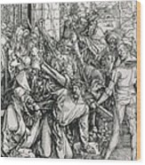 The Bearing Of The Cross From The 'great Passion' Series Wood Print by Albrecht Duerer