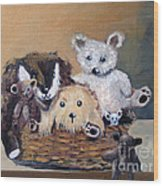 The Bears Are Back In Town Wood Print by Sharon Burger