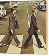 The Beatles Abbey Road Artwork Wood Print