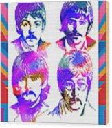 The Beatles Art Wood Print