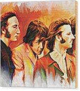 The Beatles Artwork Wood Print