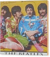 The Beatles Wood Print by Donna Wilson