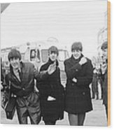 The Beatles in Dublin Wood Print